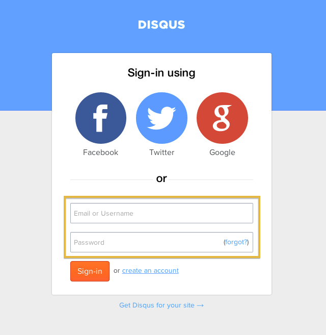 disqus-login-page