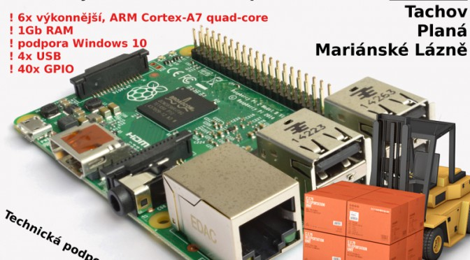 Raspberry Pi 2: inovace pro vaše projekty, skladem Tachov, Planá, Mariánské Lázně