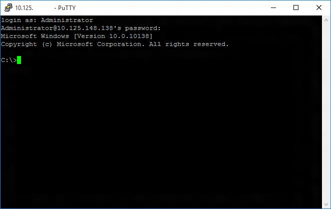 Windows 10 IoT: Připojení k Raspberry Pi 2 přes SSH (putty)