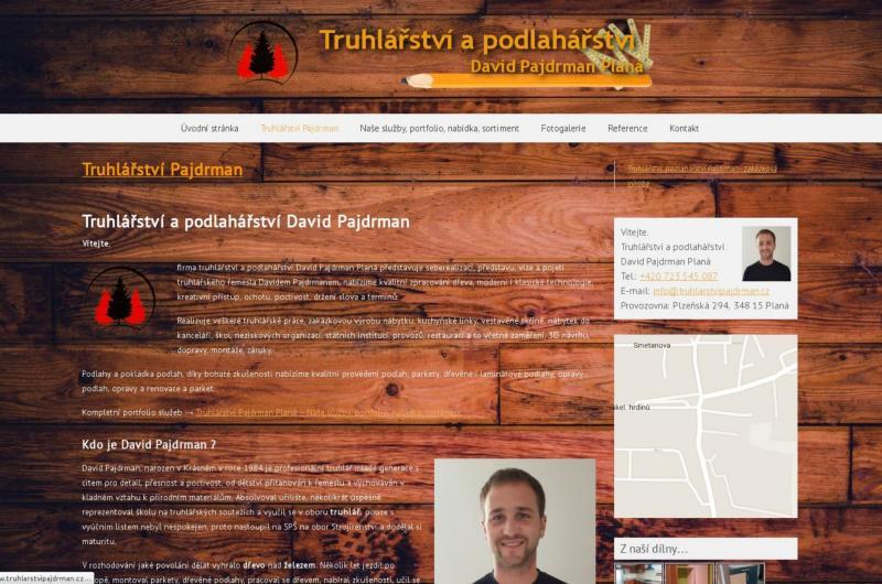 www.truhlarstvipajdrman.cz –  Truhlářství a podlahářství David Pajdrman Planá