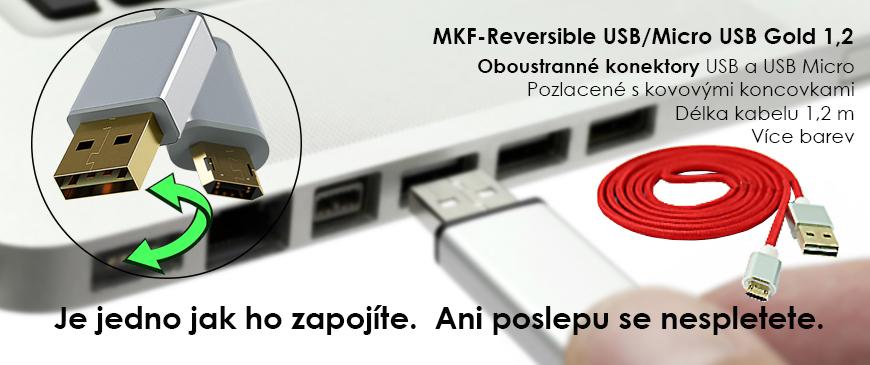 Propojovací USB kabely soboustrannými konektory