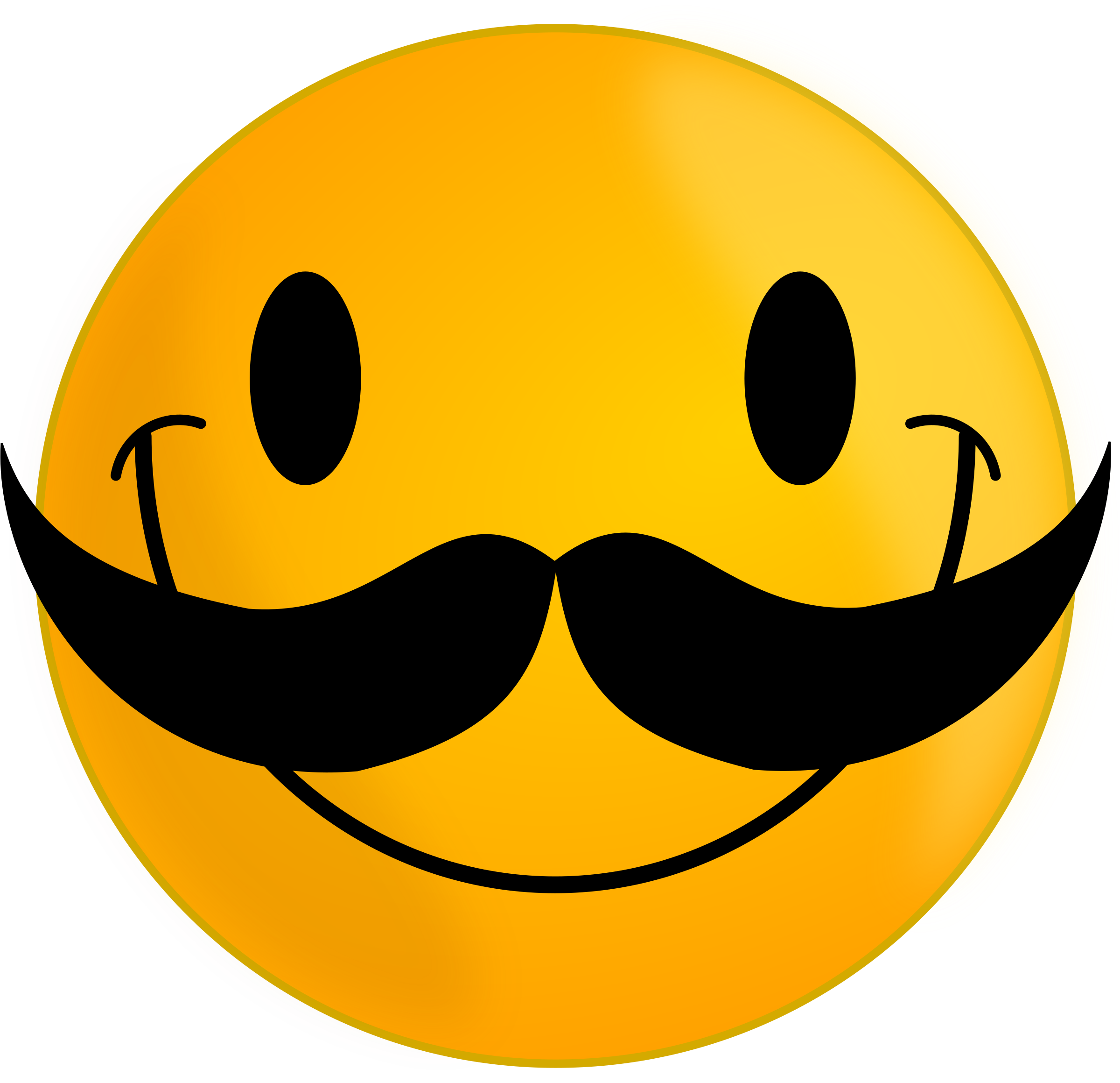 smiley-with-mustache-vector-clipart