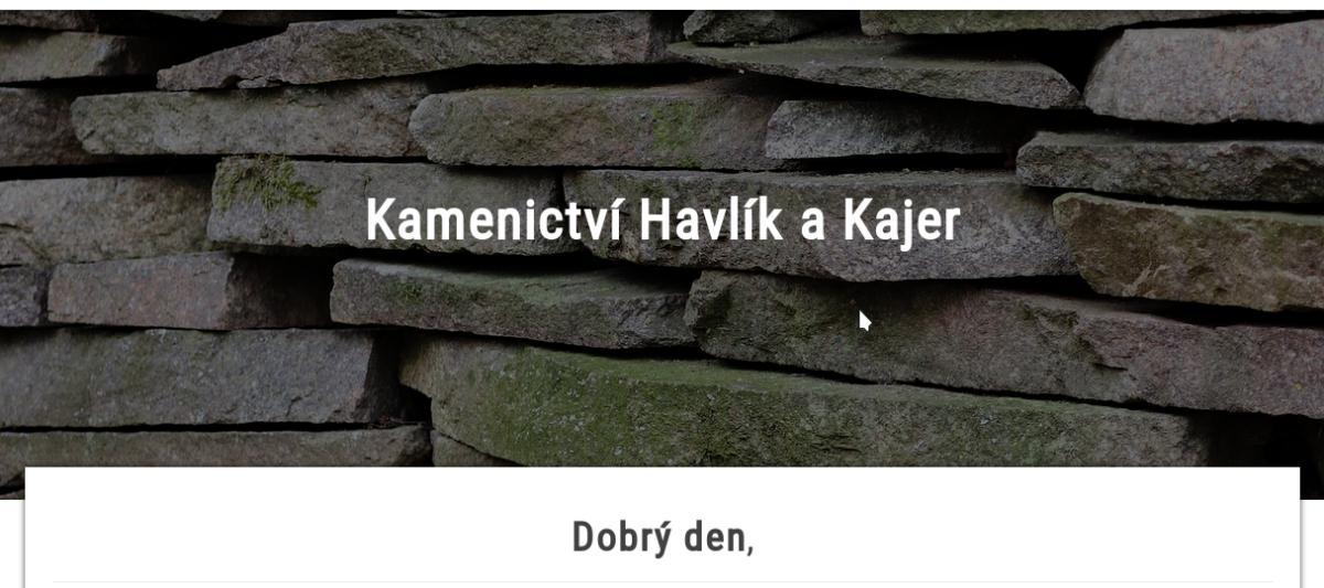 Realizováno! WWW stránky Kamenictví Havlík a Kajer