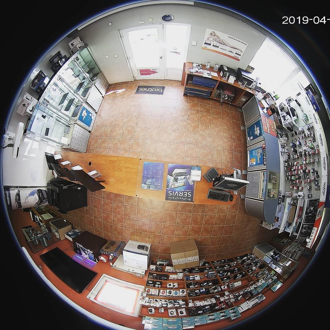 EXIRTA: Ukázka 360° kamery rybí oko s dewarping technologií